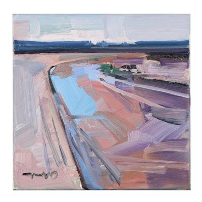 """Jose Trujillo Oil Painting """"Little Creek,"""" 2021"""