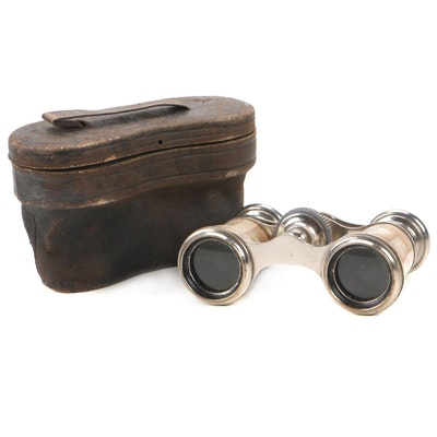 Chevalier French Mother-of-Pearl Opera Glasses with Case, Early 20th C