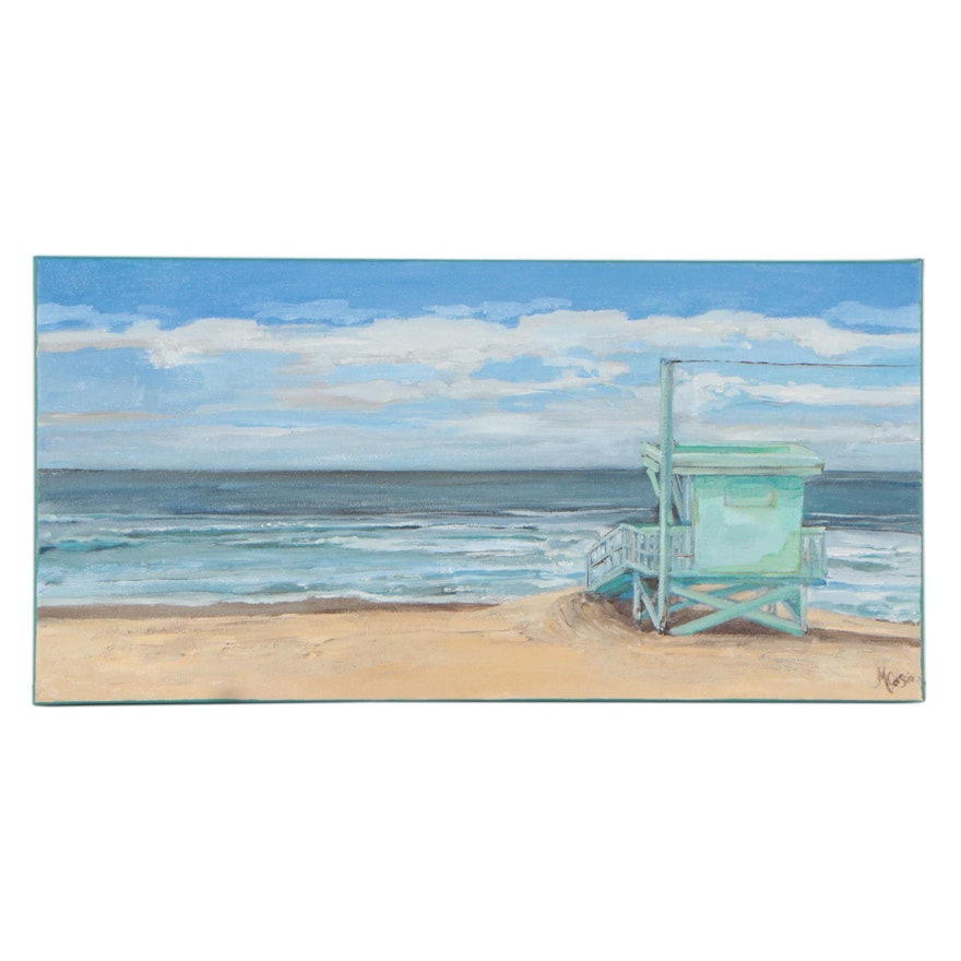 "Monica Cascio Oil Painting ""Manhattan Beach Colors,"" 2021"