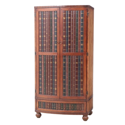 Faux Book Fronted Media Cabinet