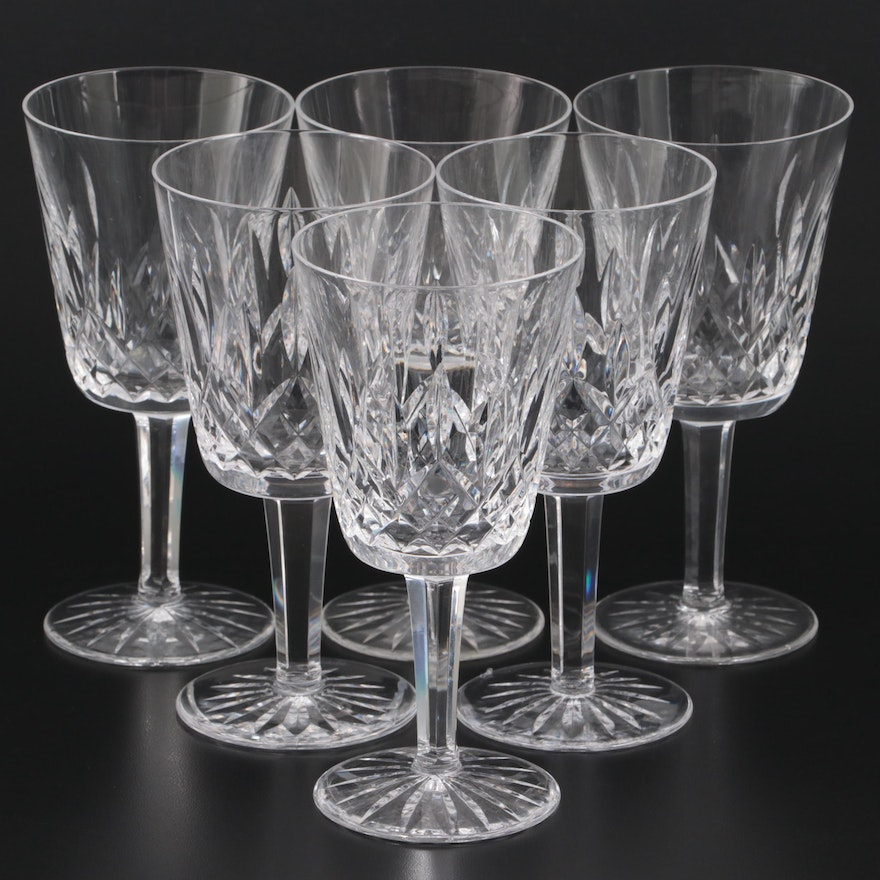 """Waterford """"Lismore"""" Crystal Water Goblets"""