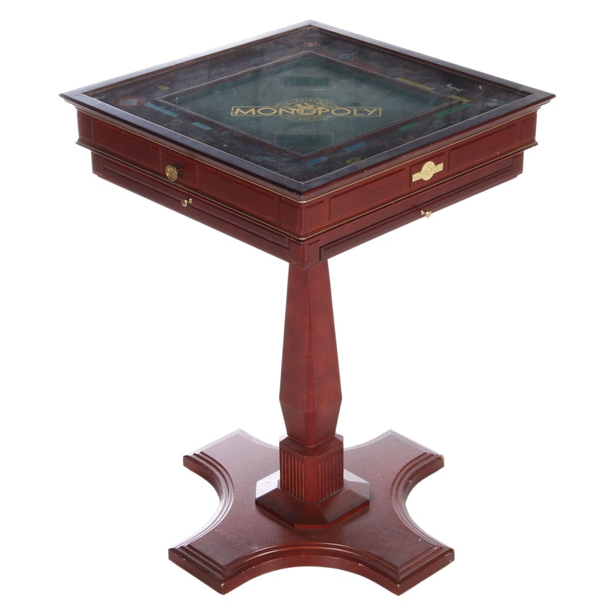 """Franklin Mint """"Monopoly"""" Collector's Edition Pedestal Game Table, circa 1992"""