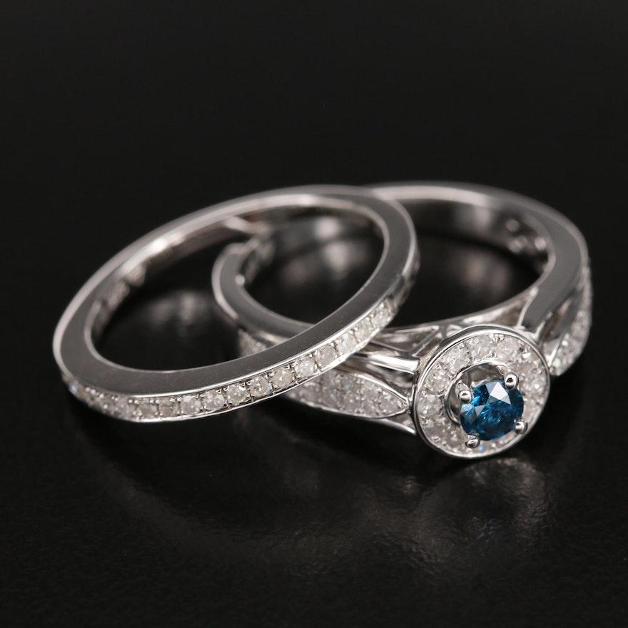 Sterling Diamond Ring Set