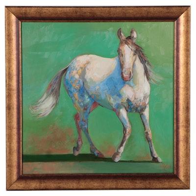 "Monica Cascio Oil Painting ""Flirty,"" 2021"