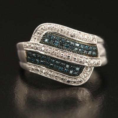 Sterling Fancy Blue Diamond Band