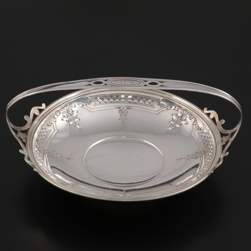 Gorham Sterling Silver Handled Basket, Early 20th Century