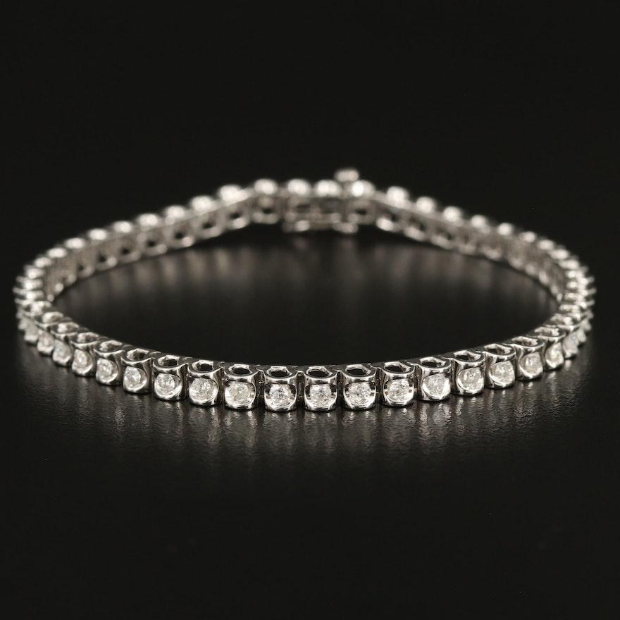 Sterling 1.45 CTW Diamond Tennis Bracelet