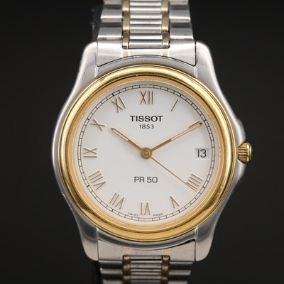 Tissot Two Tone Stainless Steel Quartz Wristwatch with Date