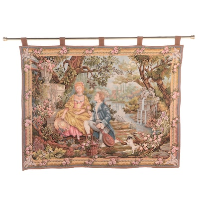 """Marc Waymel for the Franklin Mint """"Jardin d'Amour"""" Woven Tapestry"""