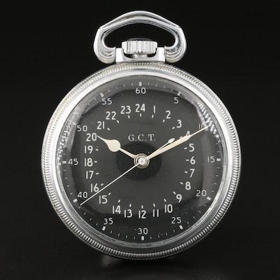 1941 Hamilton AN -5740 WWII 24 Hour Navigation Pocket Watch