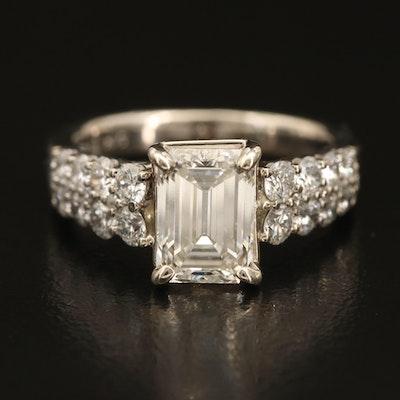14K 3.06 CTW Diamond Ring with IGI Diamond Report