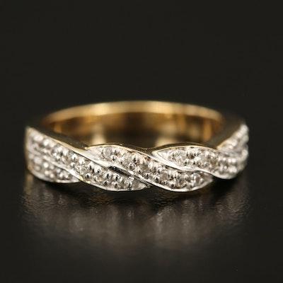 Sterling White Zircon Crossover Ring