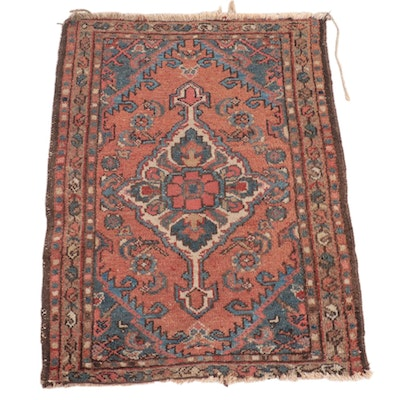 2' x 2'8 Hand-Knotted Persian Zanjan Accent Rug
