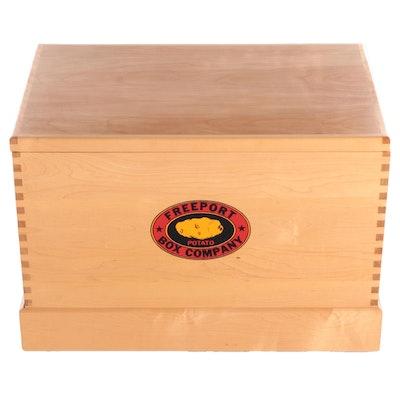 Freeport Box Company Wooden Potato Box