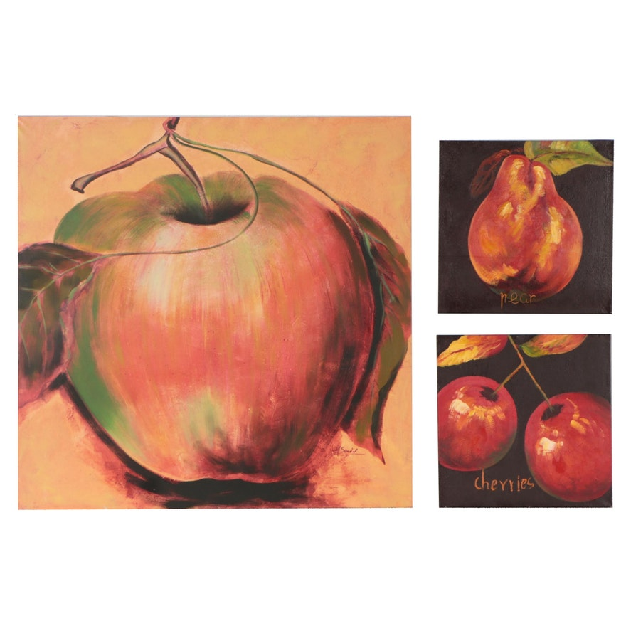 Giclée and Oil Painting of Fruits, 21st Century