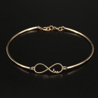 10K Forever Love Bracelet