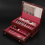"""1847 Rogers Bros. """"Heritage"""" Silver Plate Flatware Set, Mid to Late 20th C."""