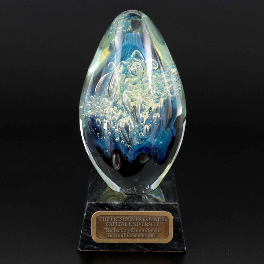 Robert Eickholt Opalescent Studio Art Glass Paperweight Award, 1998