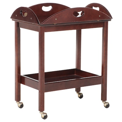 The Bombay Company Chippendale Style Mahogany Drop Leaf Tea Cart