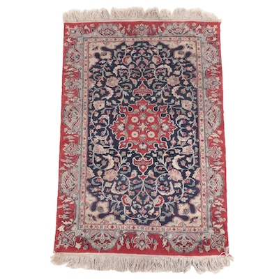 3' x 5'6 Hand-Knotted Persian Isfahan Area Rug
