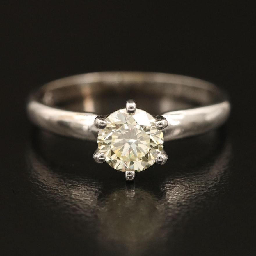 14K 0.73 CT Diamond Solitaire Ring