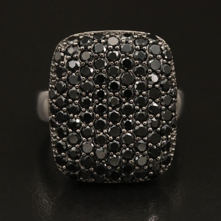 Sterling Pavé Spinel Ring