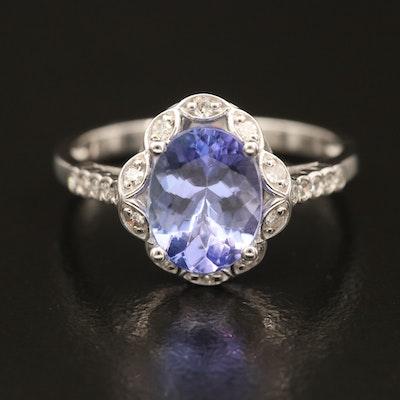 14K Tanzanite and Diamond Openwork Ring