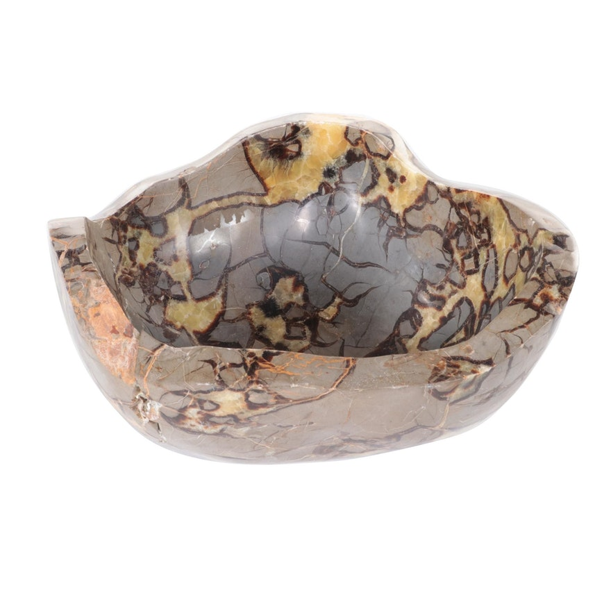 Polished Septarian Nodule Centerpiece Bowl