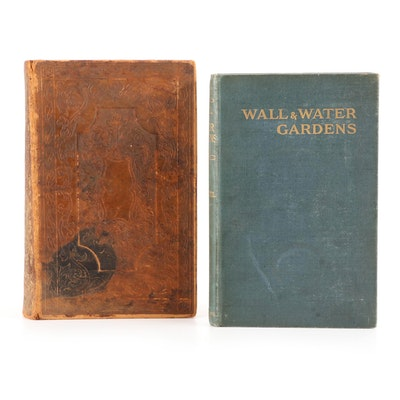 """Illustrated """"A Pictorial History of America"""" and """"Wall and Water Gardens"""""""