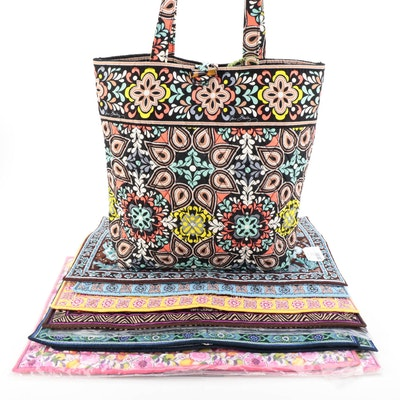 """Vera Bradley """"Rosewood"""", """"Clementine"""" and Other Placemats with """"Sierra"""" Tote"""