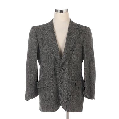 Men's Burberrys Two-Button Sport Coat Herringbone Wool