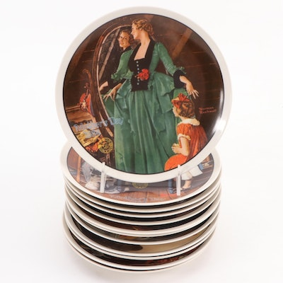 Norman Rockwell Mother's Day Collector Plates by Knowles, 1979–1990