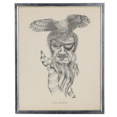 """Laura L. Lloyd Lithograph """"The Legend,"""" Late 20th Century"""