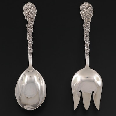 """Gorham """"Versailles"""" Vegetable Serving Fork and Spoon, Late-19th Century"""