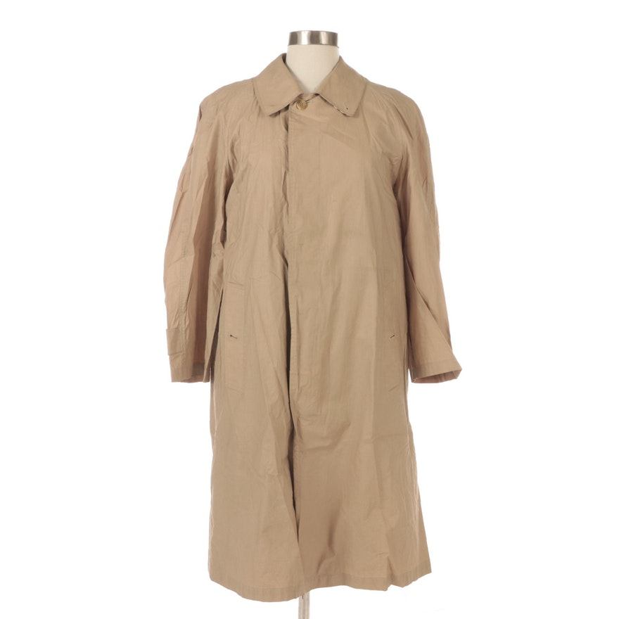 Men's Burberrys Cotton Trench Coat with Removable Wool Lining and Garment Bag