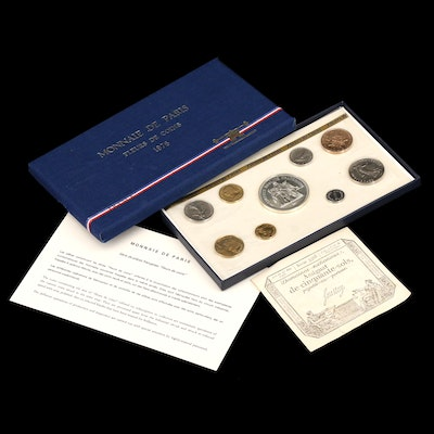 1976 French Uncirculated Nine-Coin Set