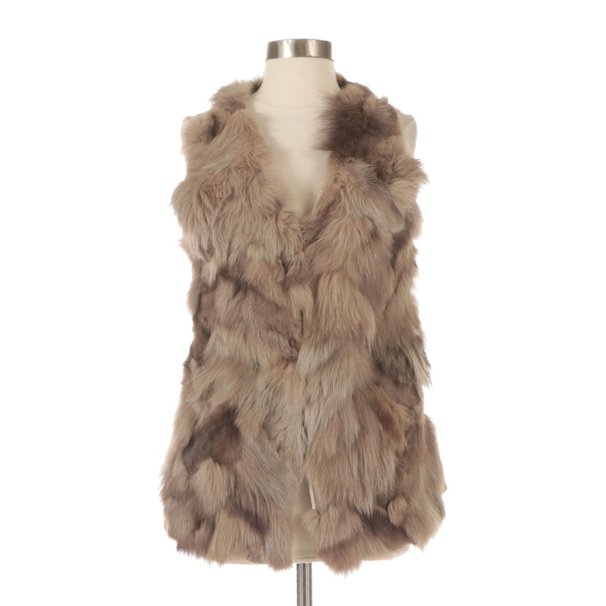Fox Fur and Cashmere Vest by The Cue