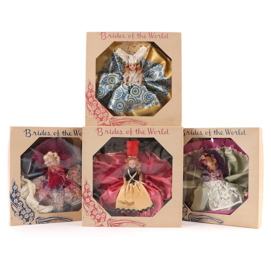 """Big Star Stores """"Brides of the World"""" Promotional Dolls, Mid-20th Century"""