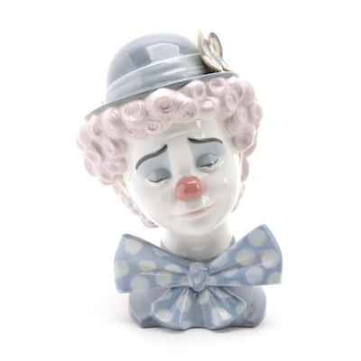 """Lladró """"Sad Clown"""" Porcelain Figurine Designed by José Puche, Late 20th Century"""