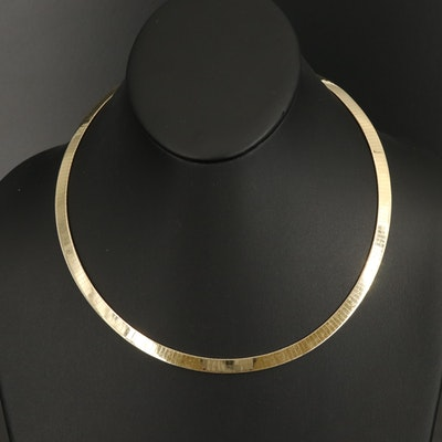 Italian 14K Omega Chain Necklace