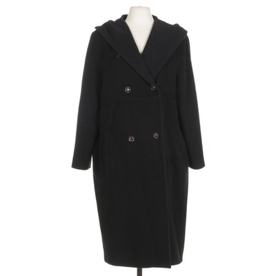 Pendleton Wool Blend Button Front Hooded Coat
