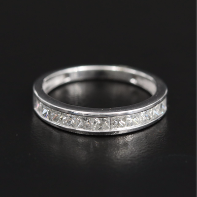 Sterling Channel Set 1.00 CTW Diamond Band