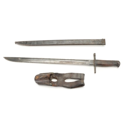 WWII Japanese Type 30 Bayonet with Scabbard and Frog