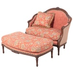 Victorian Style Upholstered Settee, Early 20th Century