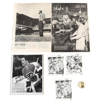 Roy Campanella PM10 Pinback with Other Sports Memorabilia