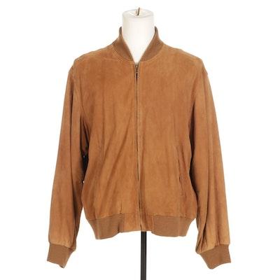 Coach Men's Suede Zip-Up Jacket