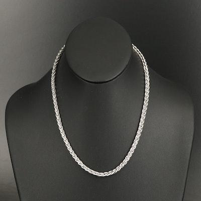 Italian 14K Wheat Chain Necklace