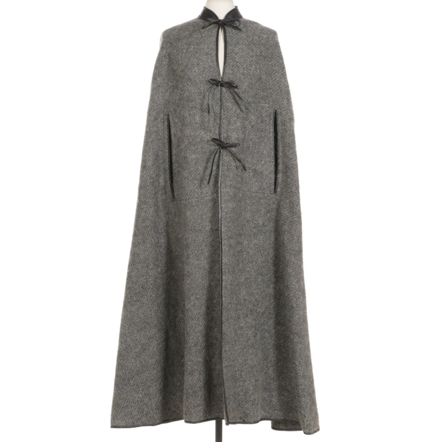 Sills Wool and Leather Cape