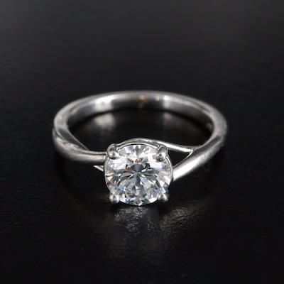 Platinum 1.20 CT Diamond Solitaire Ring with IGI Report