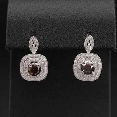 Sterling 2.40 CTW Diamond Earrings